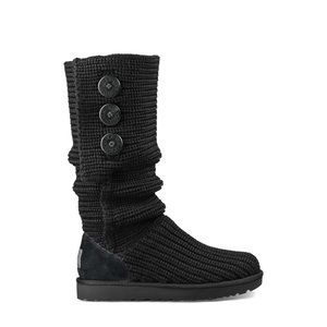 UGG Black Classic Tall Cardy Boot 10
